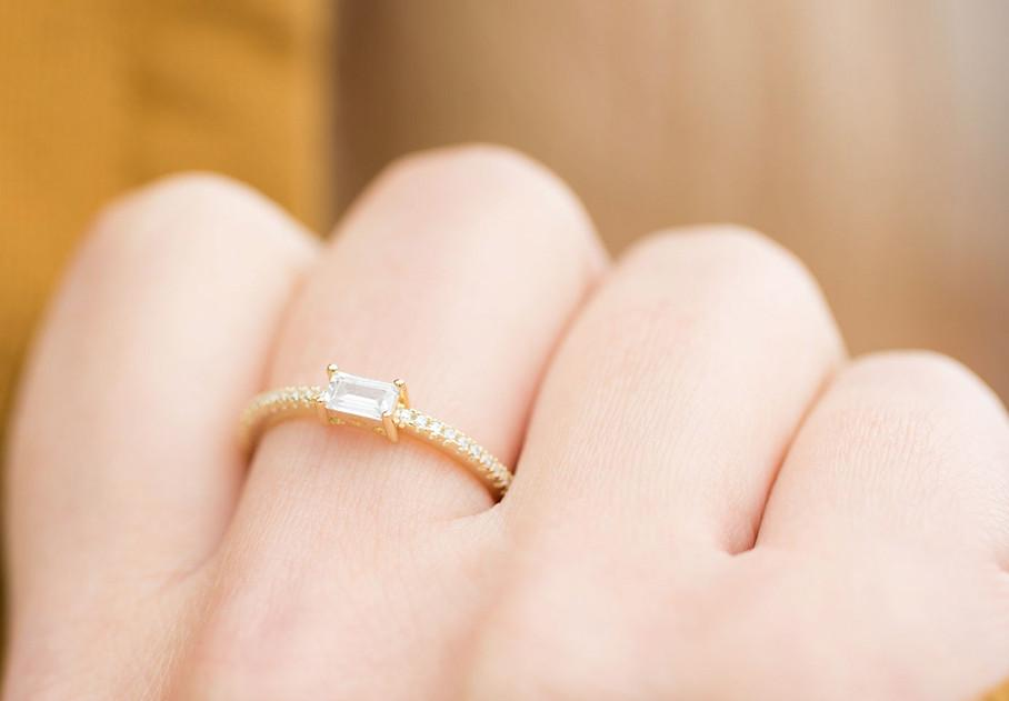 Elle Baguette Ring - Pretty Collected