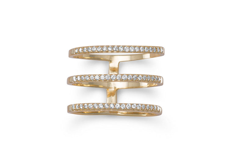 Emma Triple Row Ring - Gold