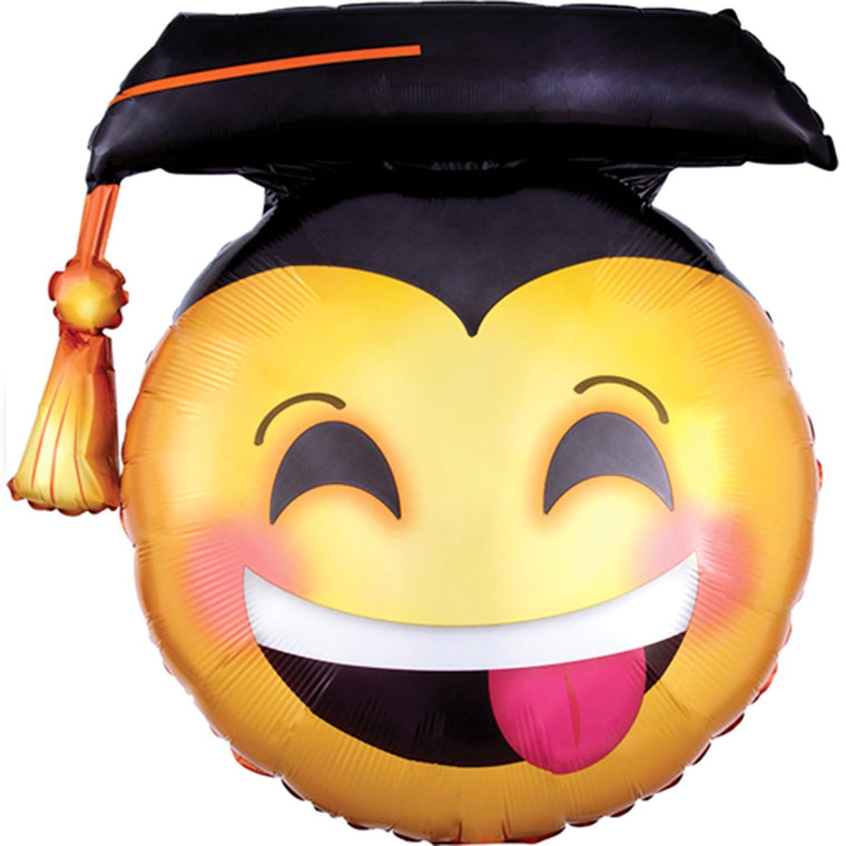 Emoji Graduation Balloon - Pretty Collected