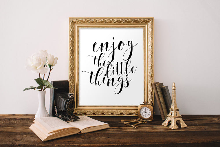 Enjoy the Little Things Printable - Pretty Collected