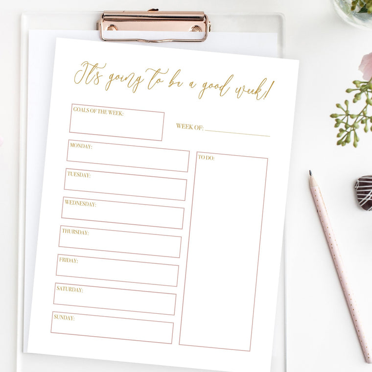 Weekly Planner - FREE Printable - Pretty Collected