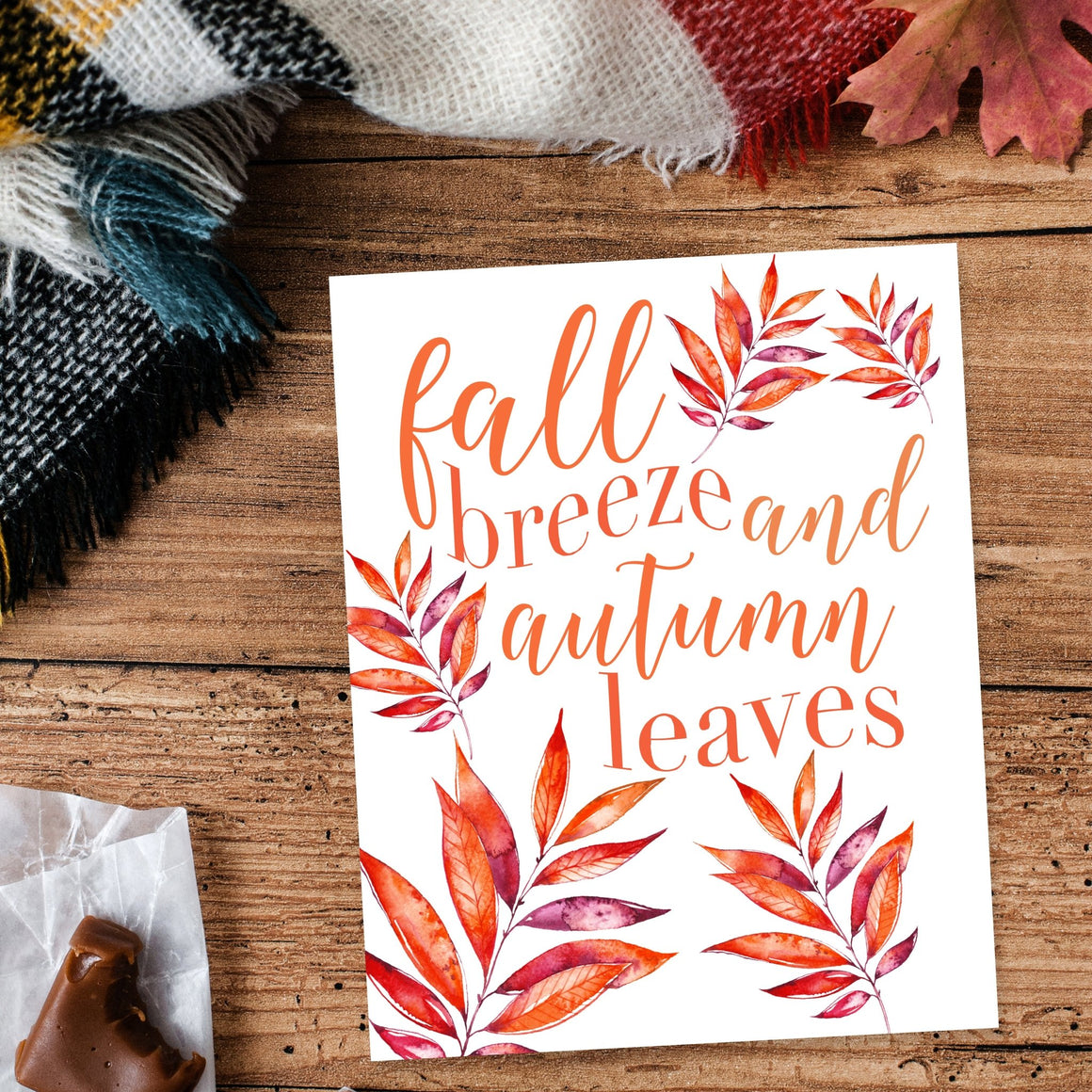 Fall Breeze and Autumn Leaves Printable - Pretty Collected