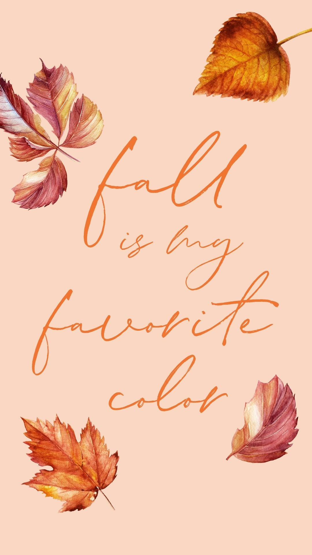 Fall is My Favorite Color - FREE Wallpaper - Pretty Collected