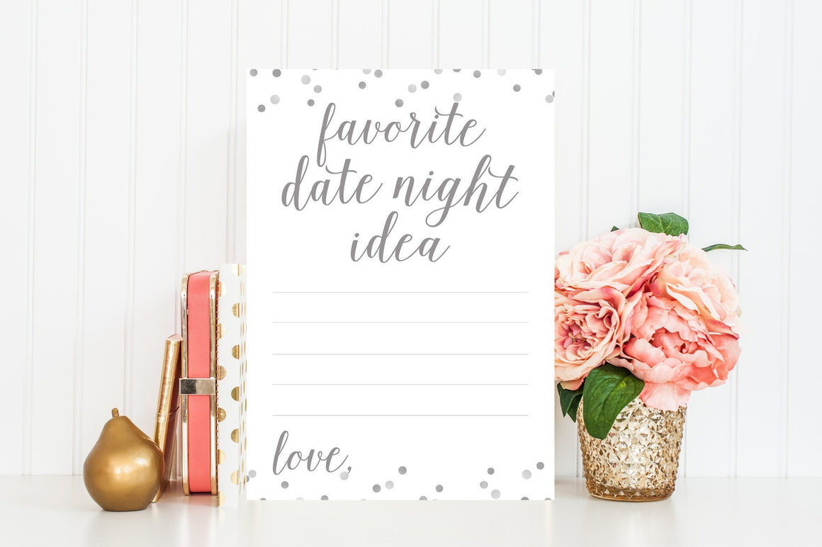 Favorite Date Night Idea - Grey Printable - Pretty Collected