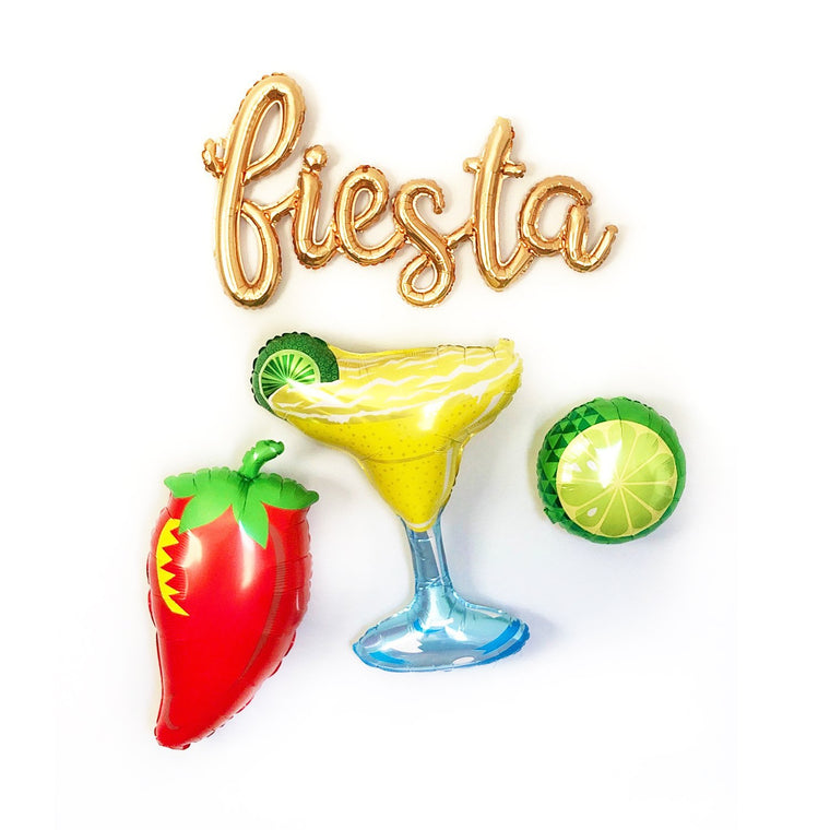 Fiesta, Margarita & Chili Balloons - Pretty Collected