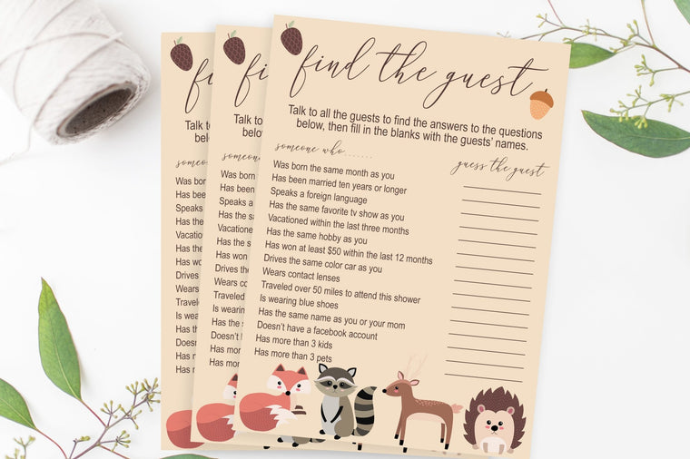 Find the Guest - Woodland Printable - Pretty Collected
