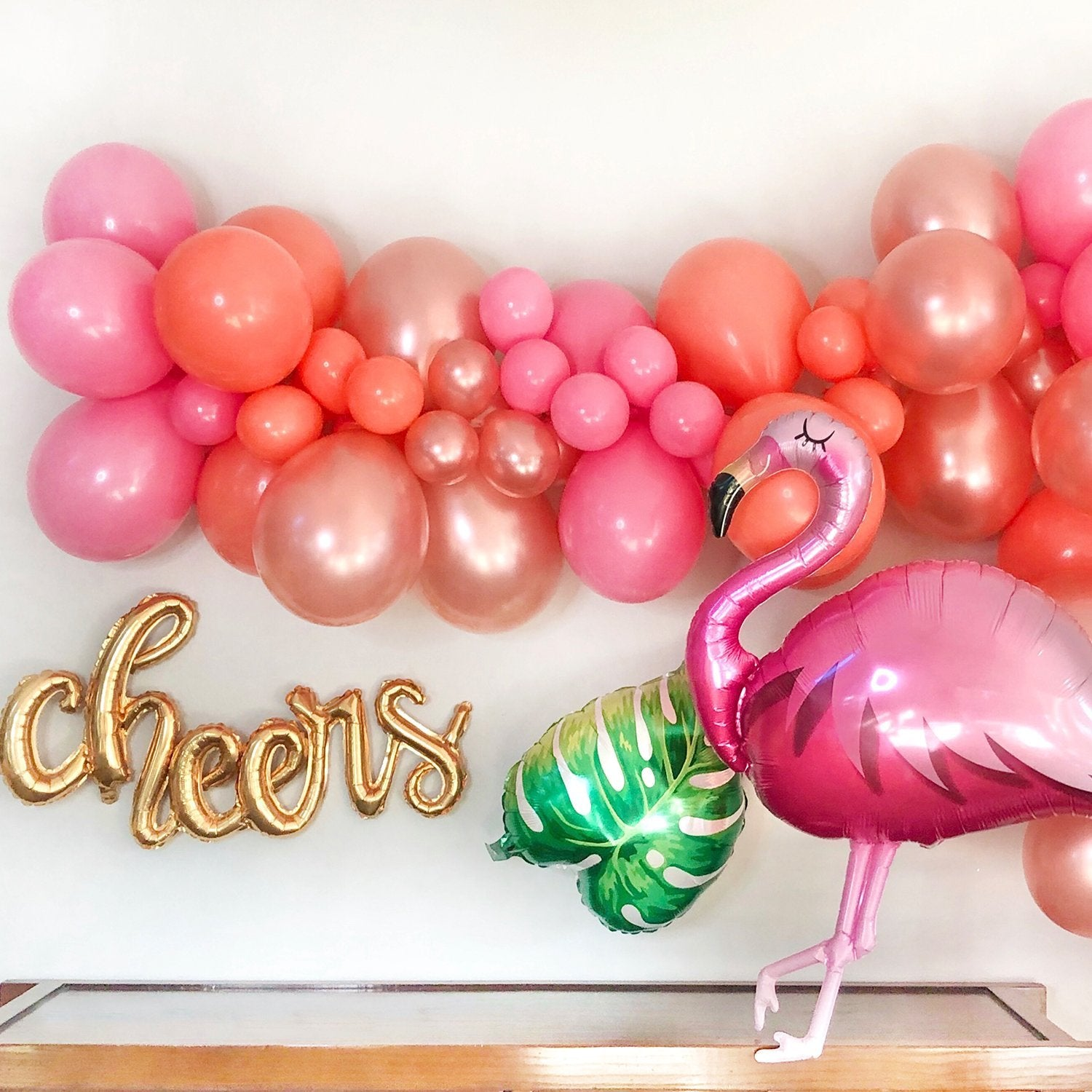 Flamingo Party Decorations - DIY Flamingo Balloon Garland - Balloon Garland Kit - Pretty Collected