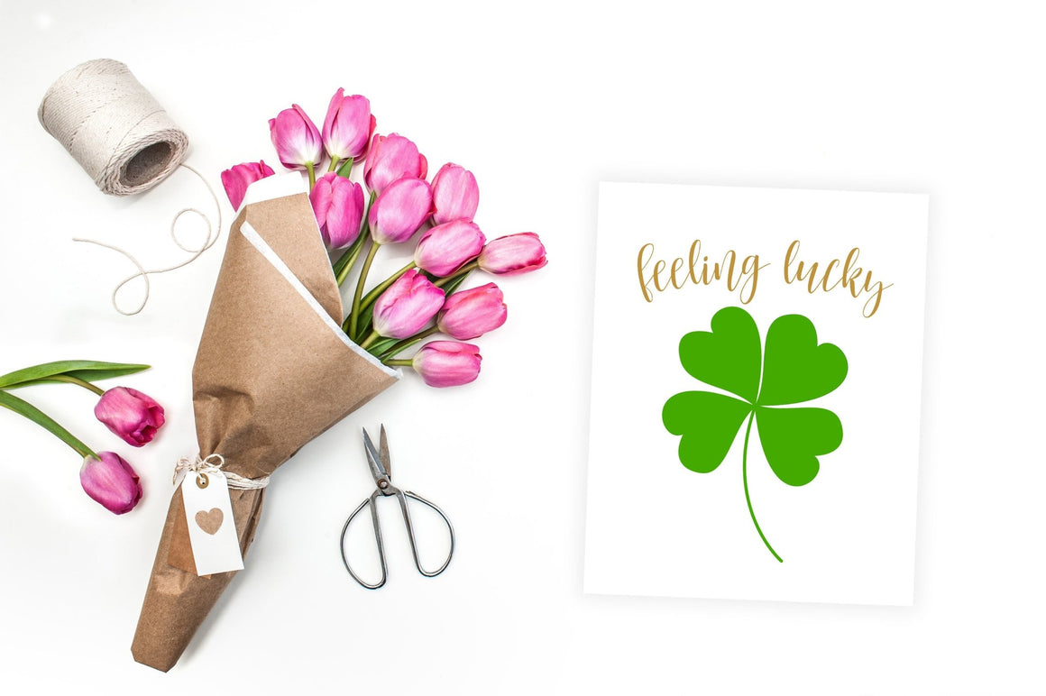 Feeling Lucky - FREE Printable - Pretty Collected