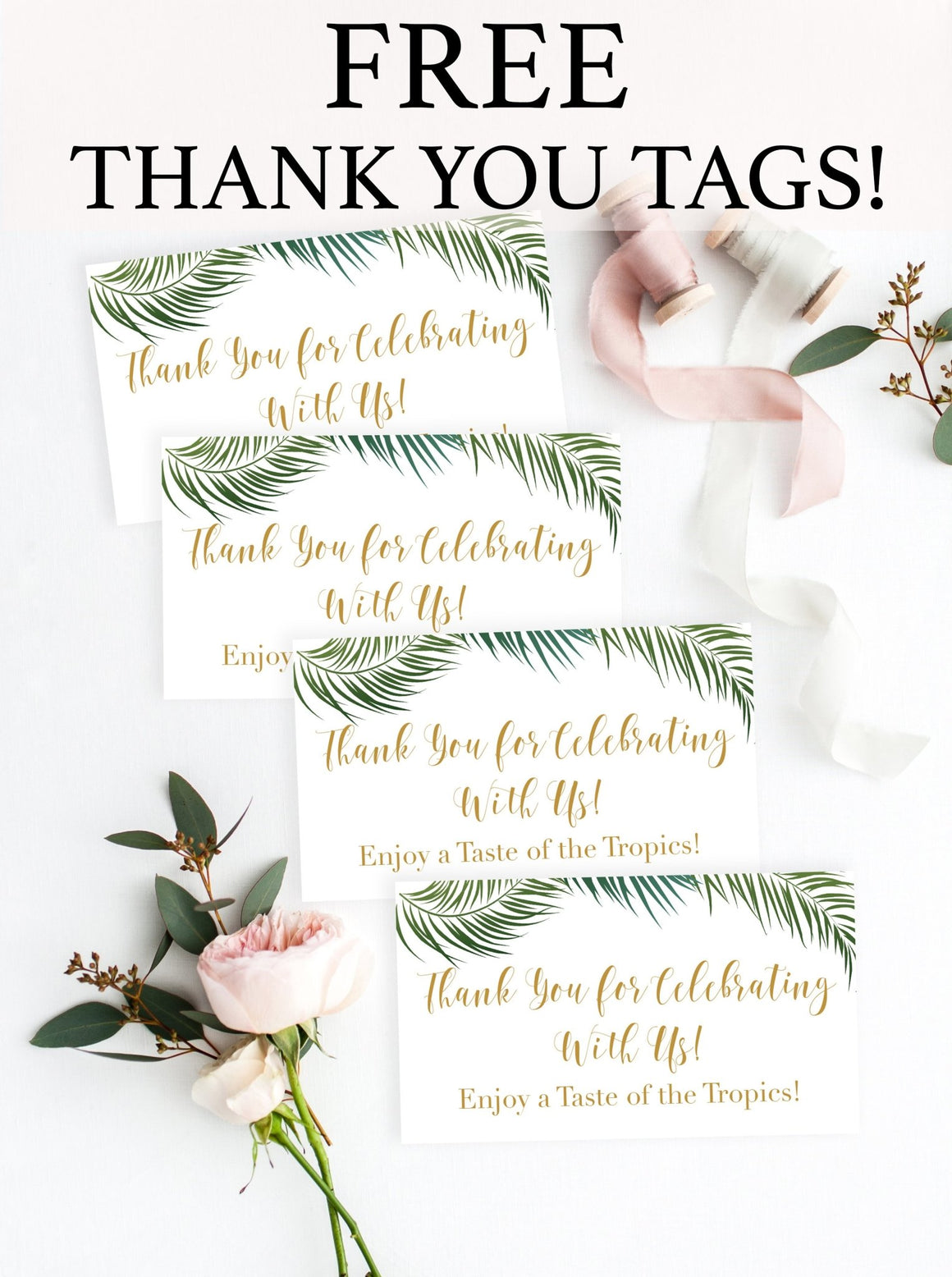 Tropical Thank You Tag - FREE Printable - Pretty Collected