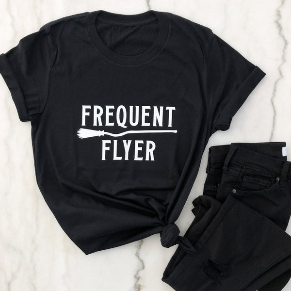 Frequent Flyer Shirt - Halloween Shirt - Funny Halloween Shirt -Fall Shirts - Fall Outfits - Pretty Collected