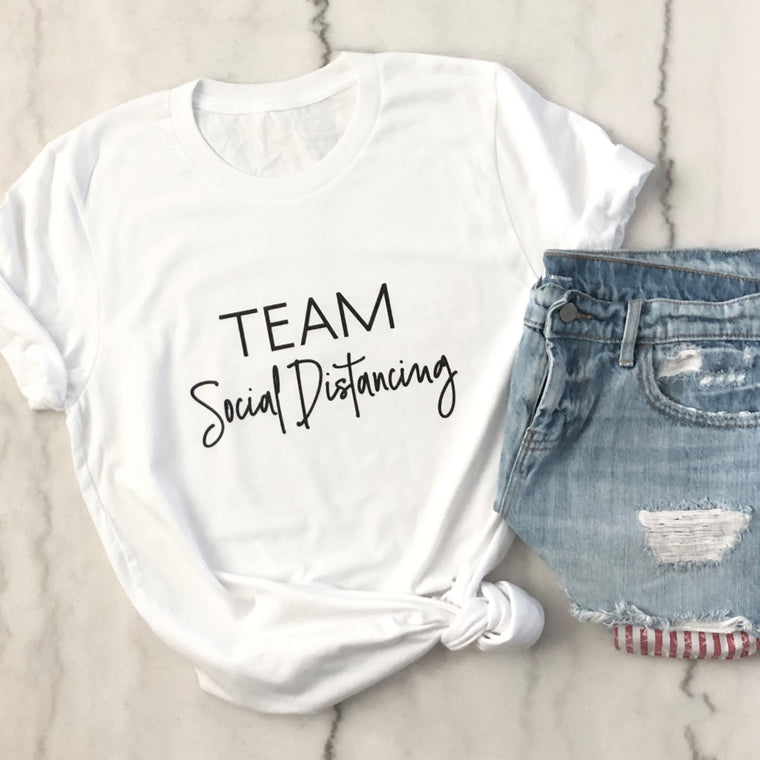 Team Social Distancing Tee - Pretty Collected