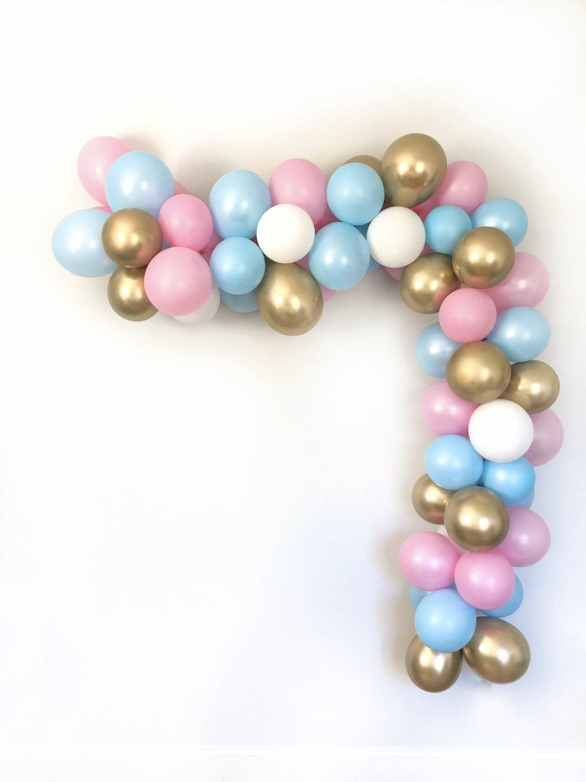 Gender Neutral Balloon Garland Kit - Pink, Blue, Gold - Pretty Collected