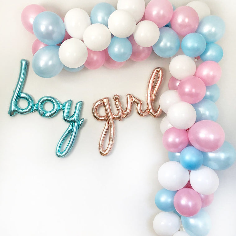 Gender Reveal Balloon Garland Kit - Pretty Collected