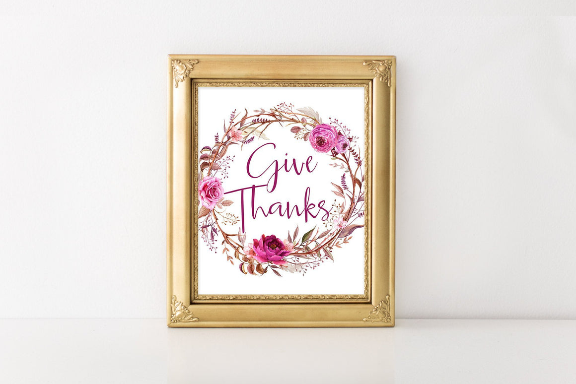 Give Thanks - FREE Printable - Pretty Collected
