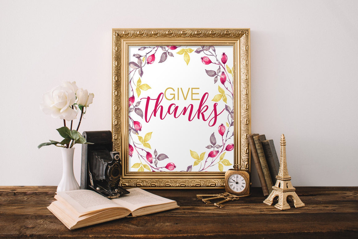 Give Thanks Printable - Pretty Collected