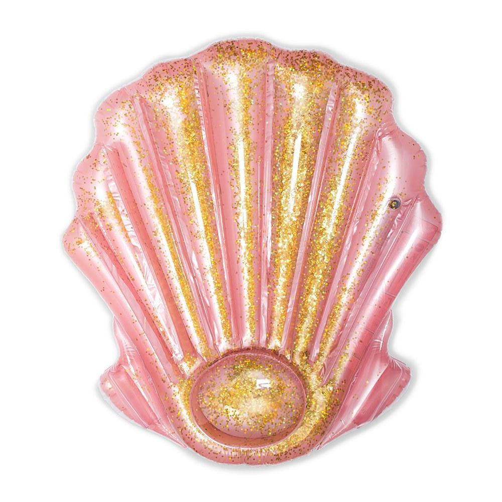 Glitter Seashell Pool Float Lounger - Pretty Collected
