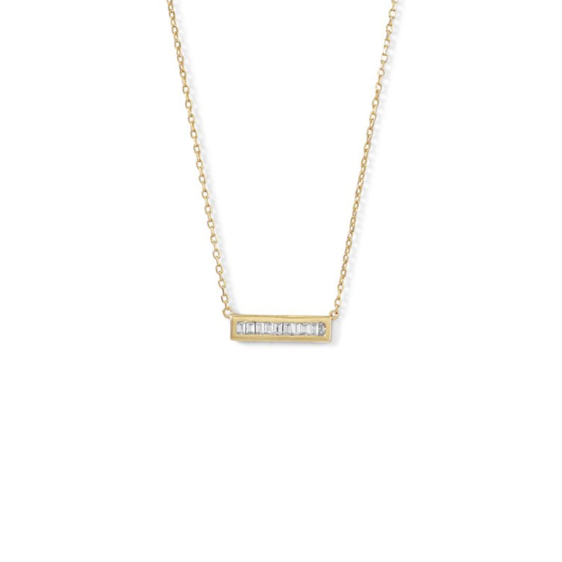 Mia Baguette Bar Necklace - Pretty Collected