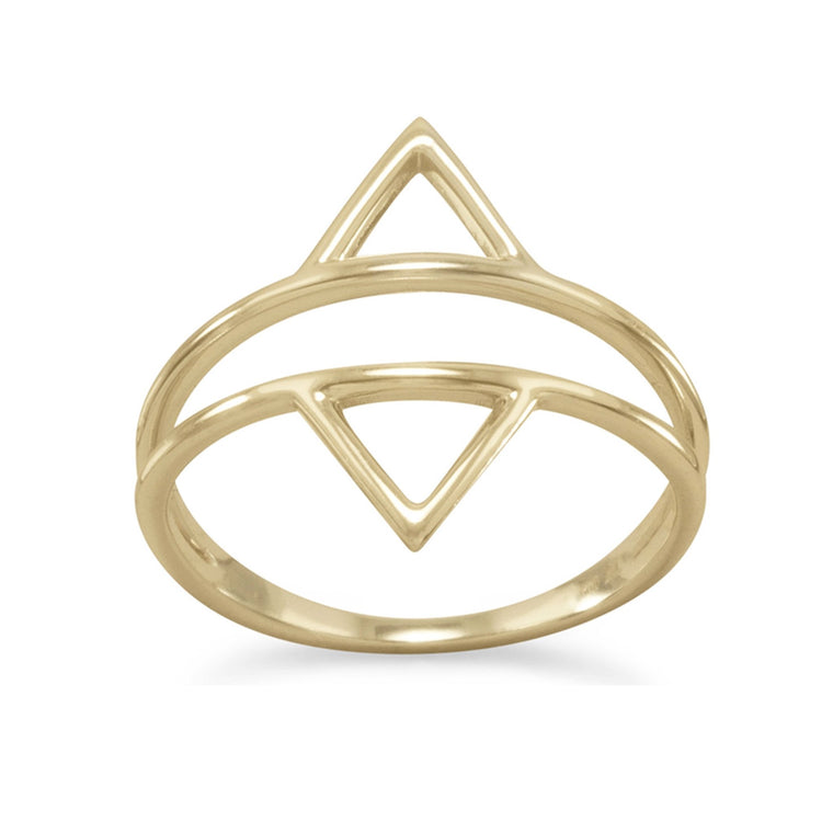 Nadia Double Triangle Ring - Pretty Collected