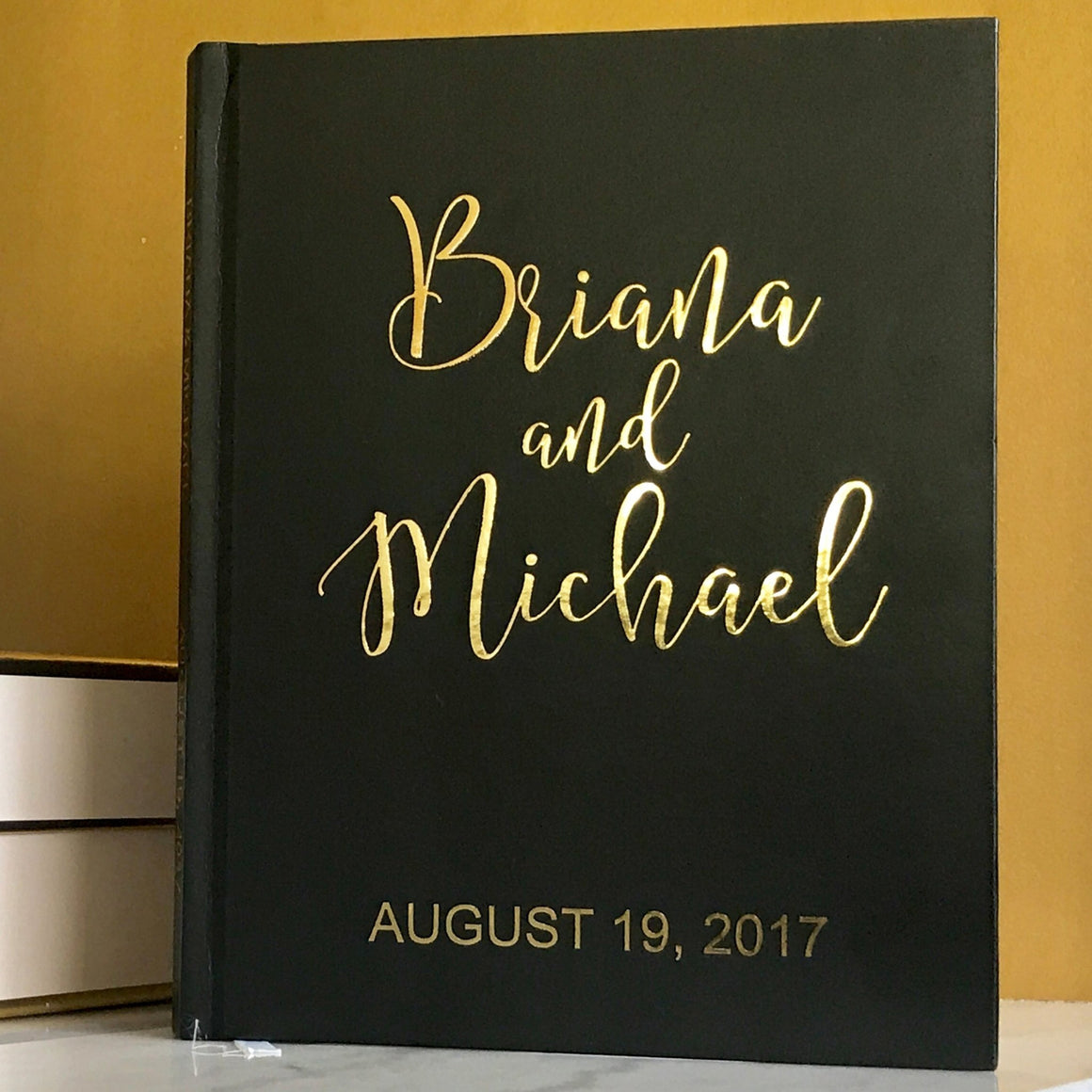 Gold Foil Wedding Guest Book - The Briana - Pretty Collected