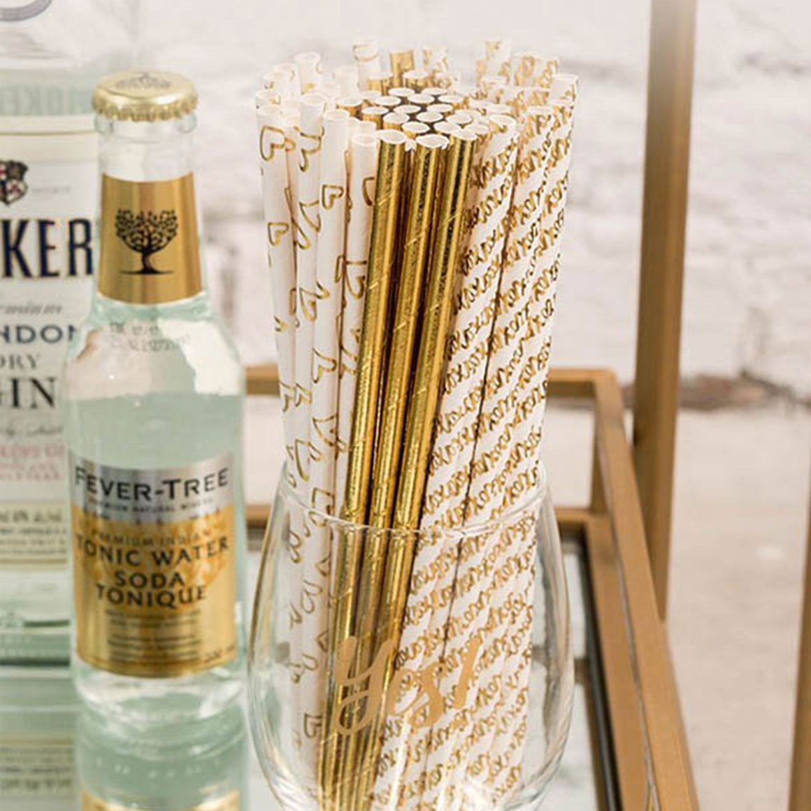 Gold Foil Paper Straws - Pretty Collected