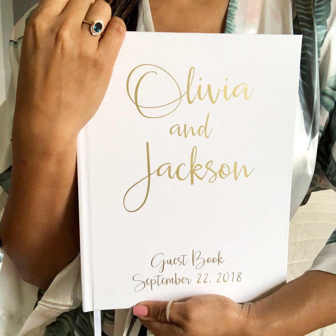 Gold Wedding Guest Book - The Olivia - Pretty Collected