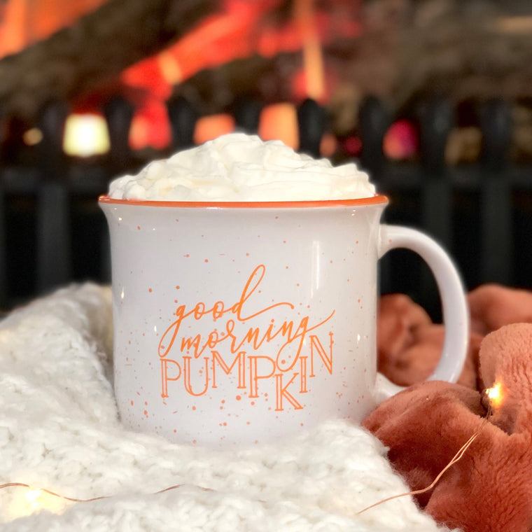 Good Morning Pumpkin Campfire Mug - White Version - Pretty Collected