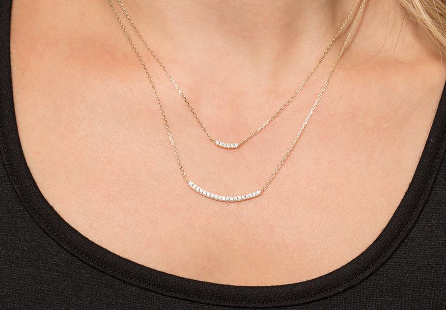 Gracie Double Bar Necklace - Pretty Collected