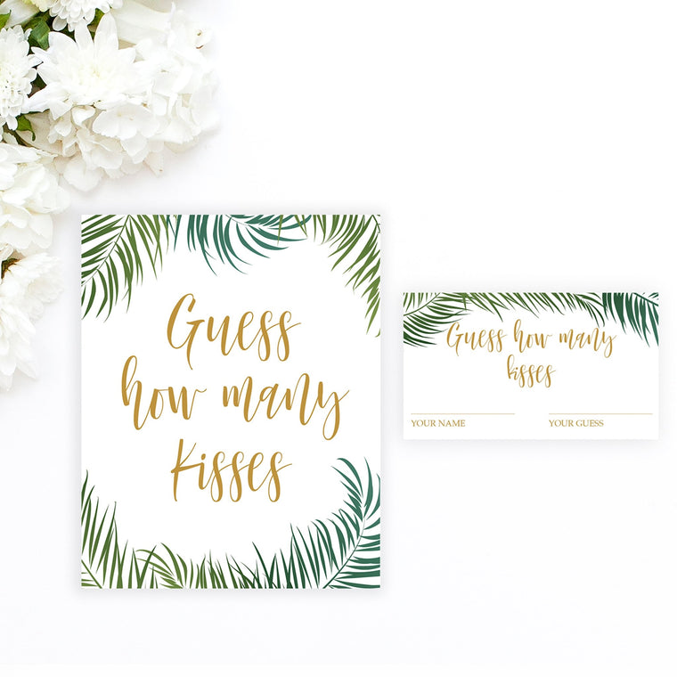 Guess How Many Kisses - Tropical Printable - Pretty Collected