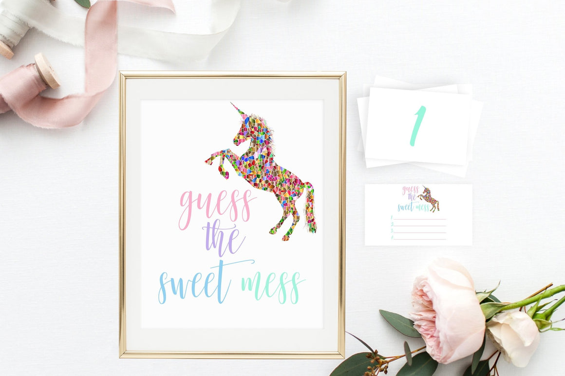 Guess the Sweet Mess - Unicorn Printable - Pretty Collected