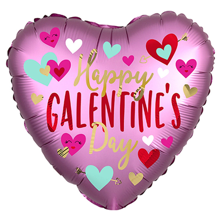 Happy Galentine's Day Heart Balloon - Pretty Collected