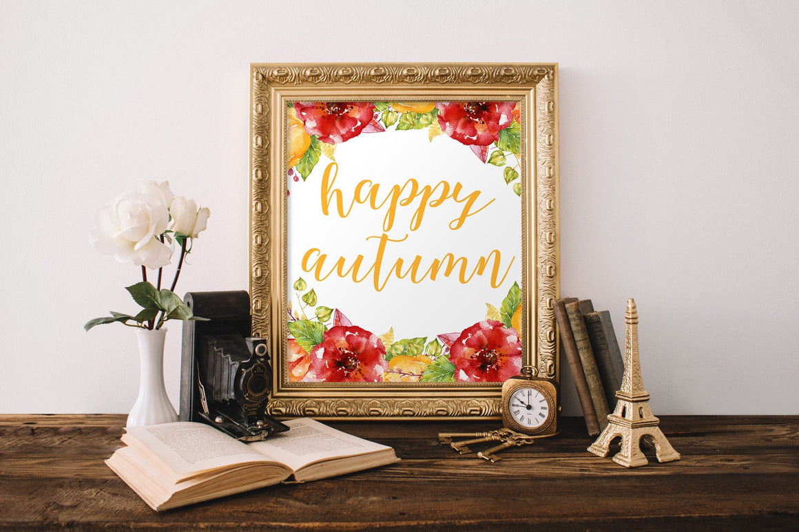Happy Autumn Printable - Pretty Collected