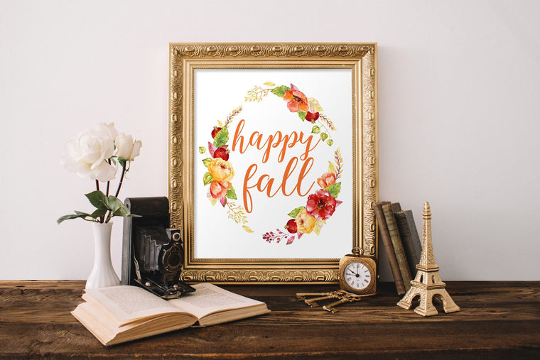 Happy Fall Printable - Pretty Collected