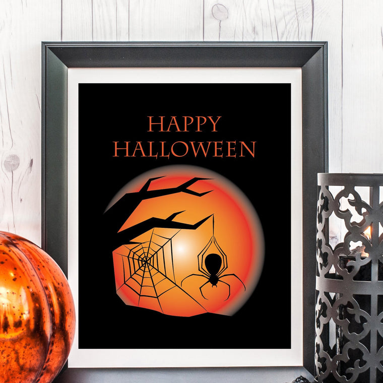 Happy Halloween Sign - FREE Printable - Pretty Collected