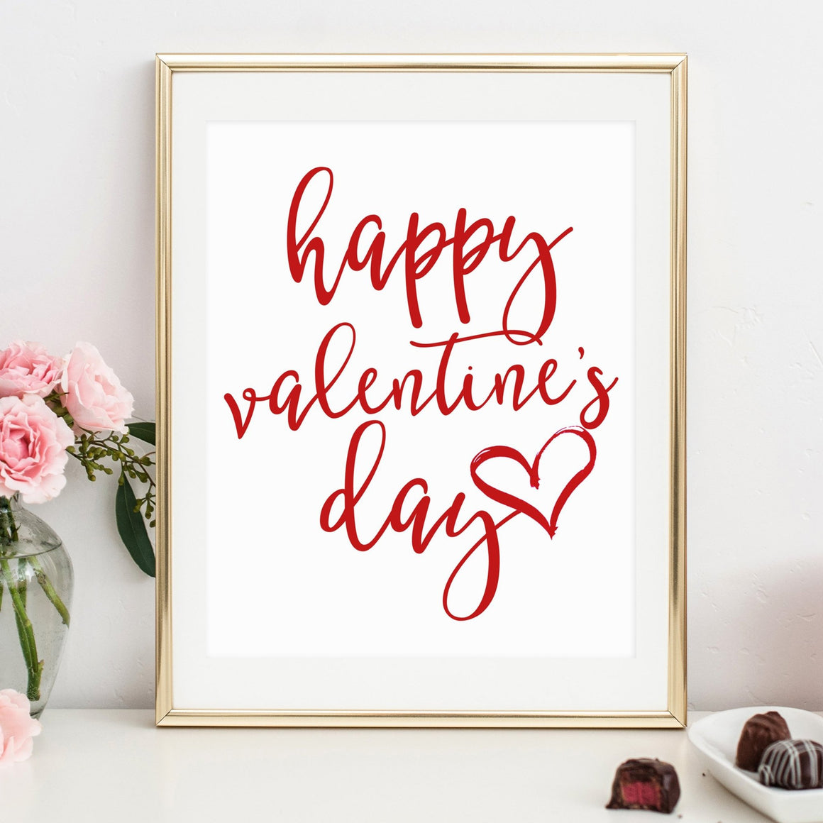 Happy Valentine's Day Printable - Pretty Collected