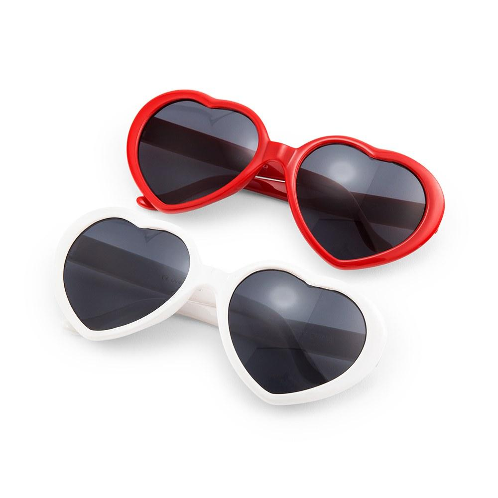 White Heart Sunglasses - Pretty Collected