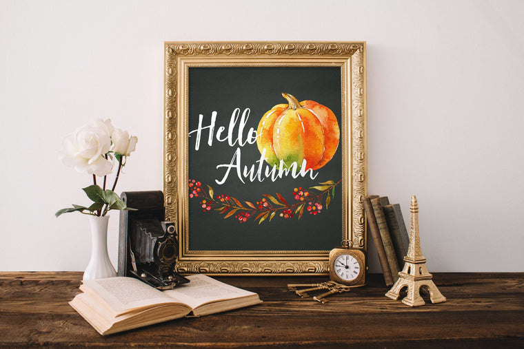 Hello Autumn Printable - Pretty Collected