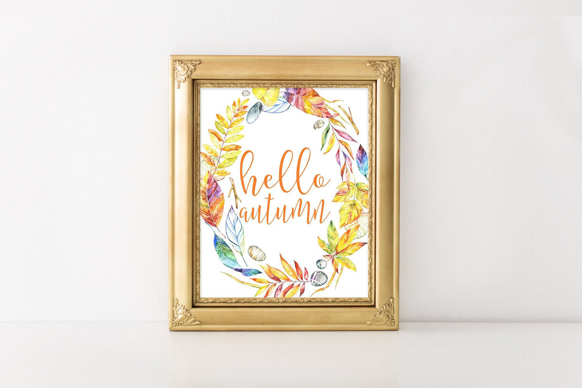 Hello Autumn - FREE Printable - Pretty Collected