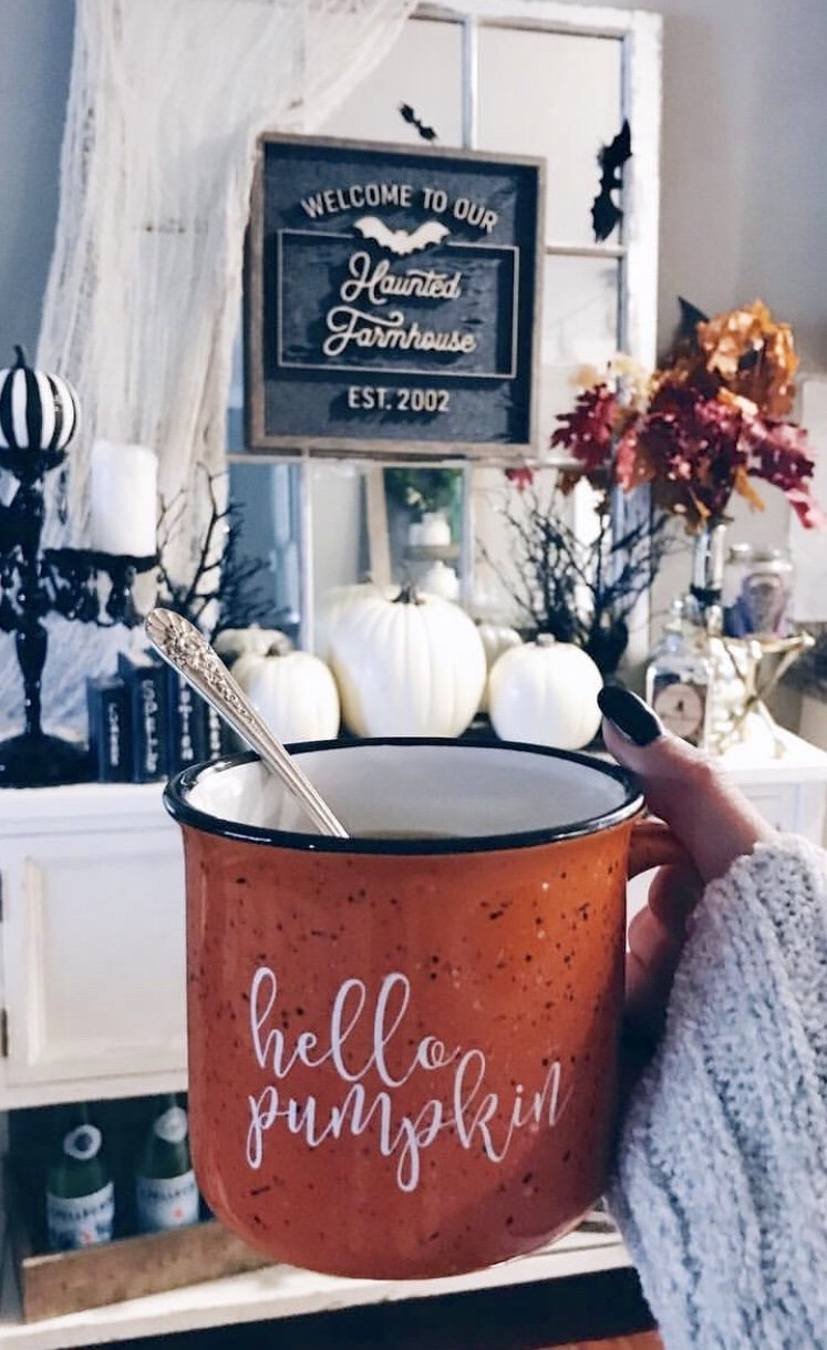 Hello Pumpkin Campfire Coffee Mug - Pretty Collected
