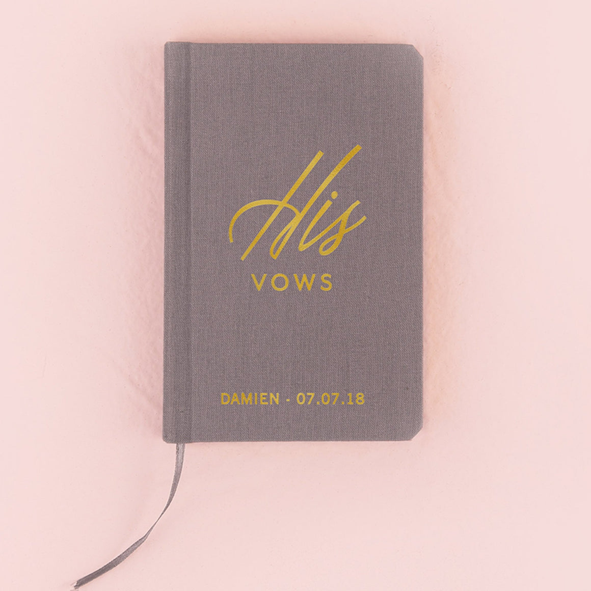 His Vow Book - Charcoal Grey - Pretty Collected