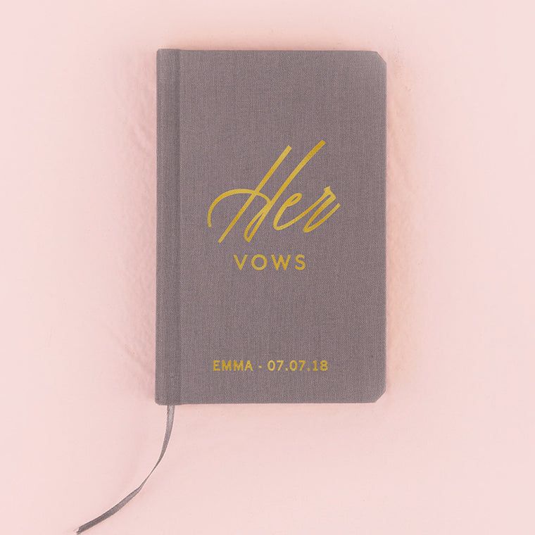 Her Vow Book - Charcoal Grey - Pretty Collected