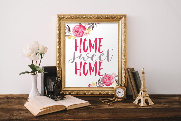Home Sweet Home Printable - Pretty Collected