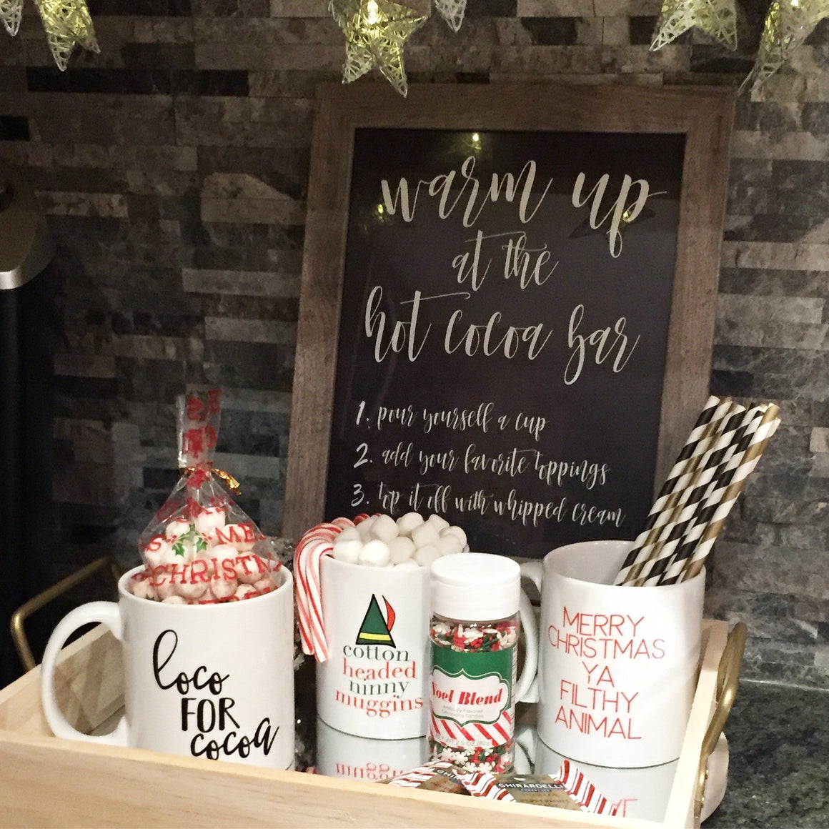 Hot Cocoa Bar Sign - FREE Printable - Pretty Collected