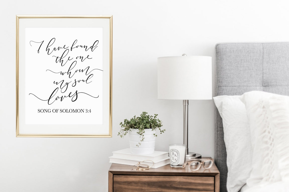 I Have Found the One Whom My Soul Loves Printable - Pretty Collected