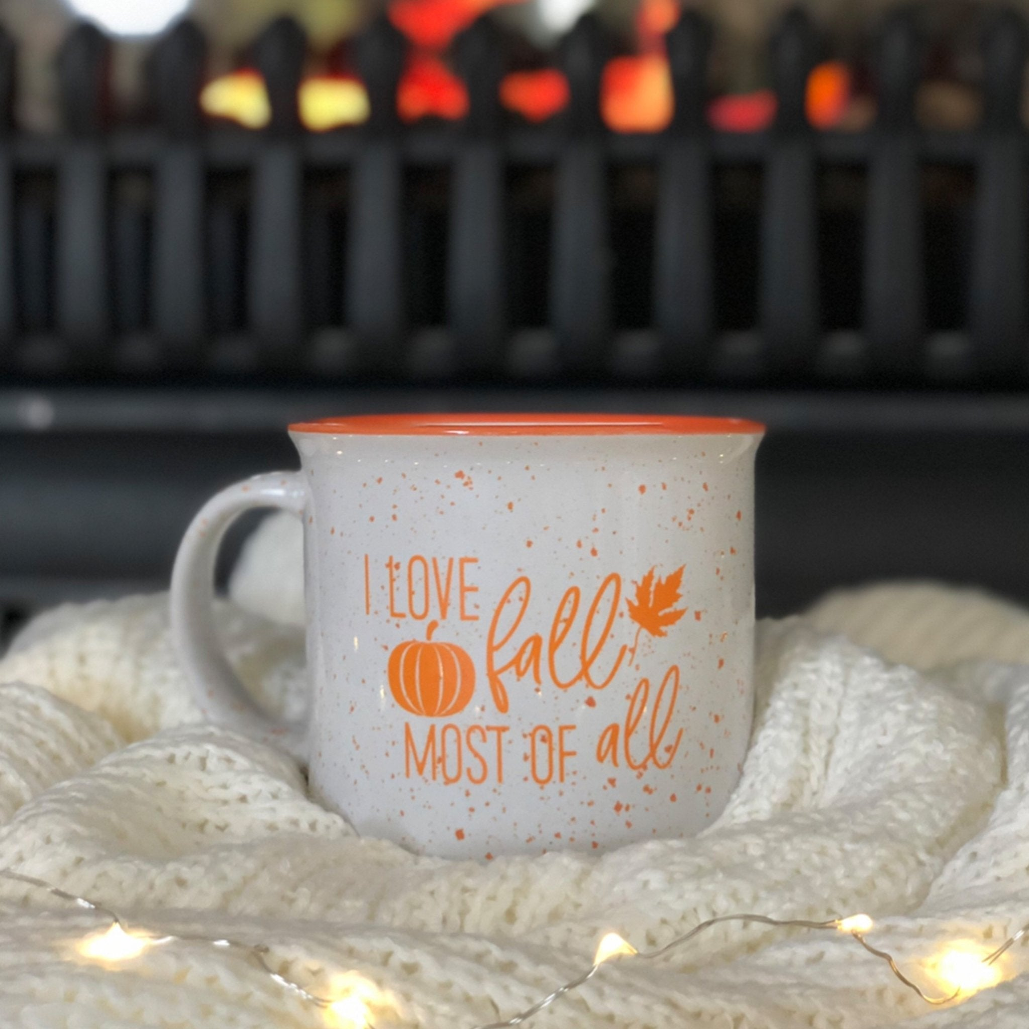 I Love Fall Most Of All Campfire Coffee Mug Pretty Collected