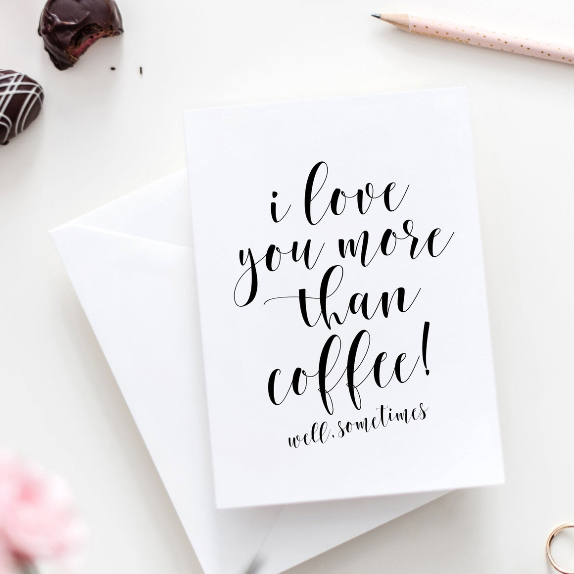I Love You More Than Coffee - FREE Printable - Pretty Collected