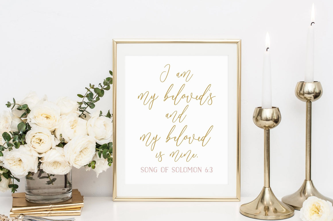 I am My Beloved's and My Beloved is Mine Printable - Pretty Collected