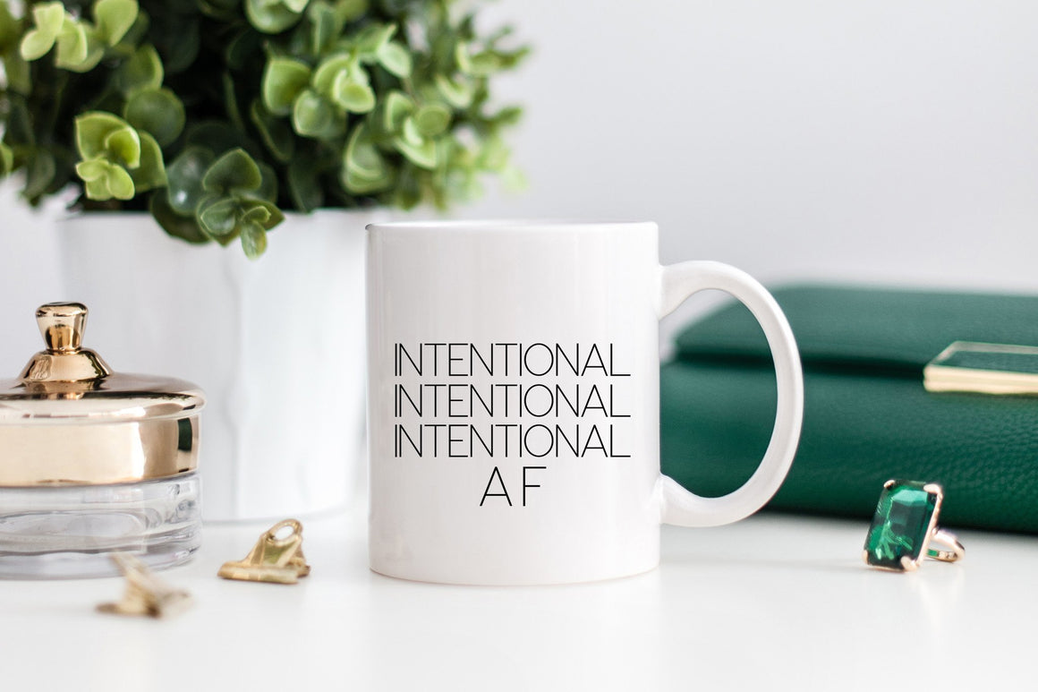 INTENTIONAL AF Mug - Pretty Collected