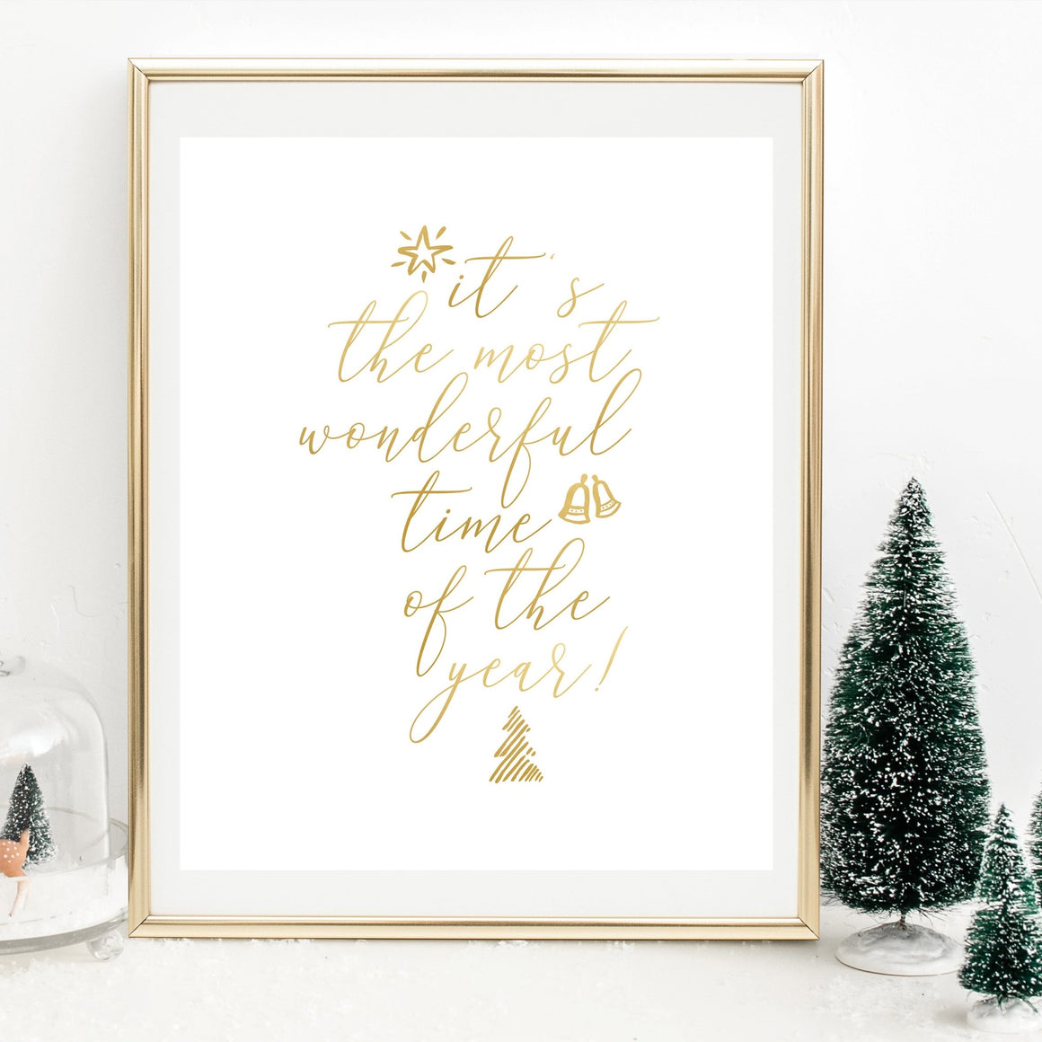 It's the Most Wonderful Time of the Year - Gold Foil Print - Pretty Collected