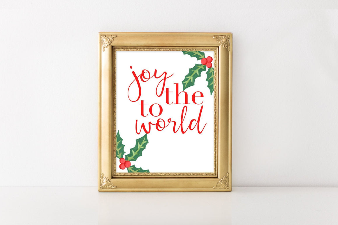 Joy to the World - FREE Printable - Pretty Collected