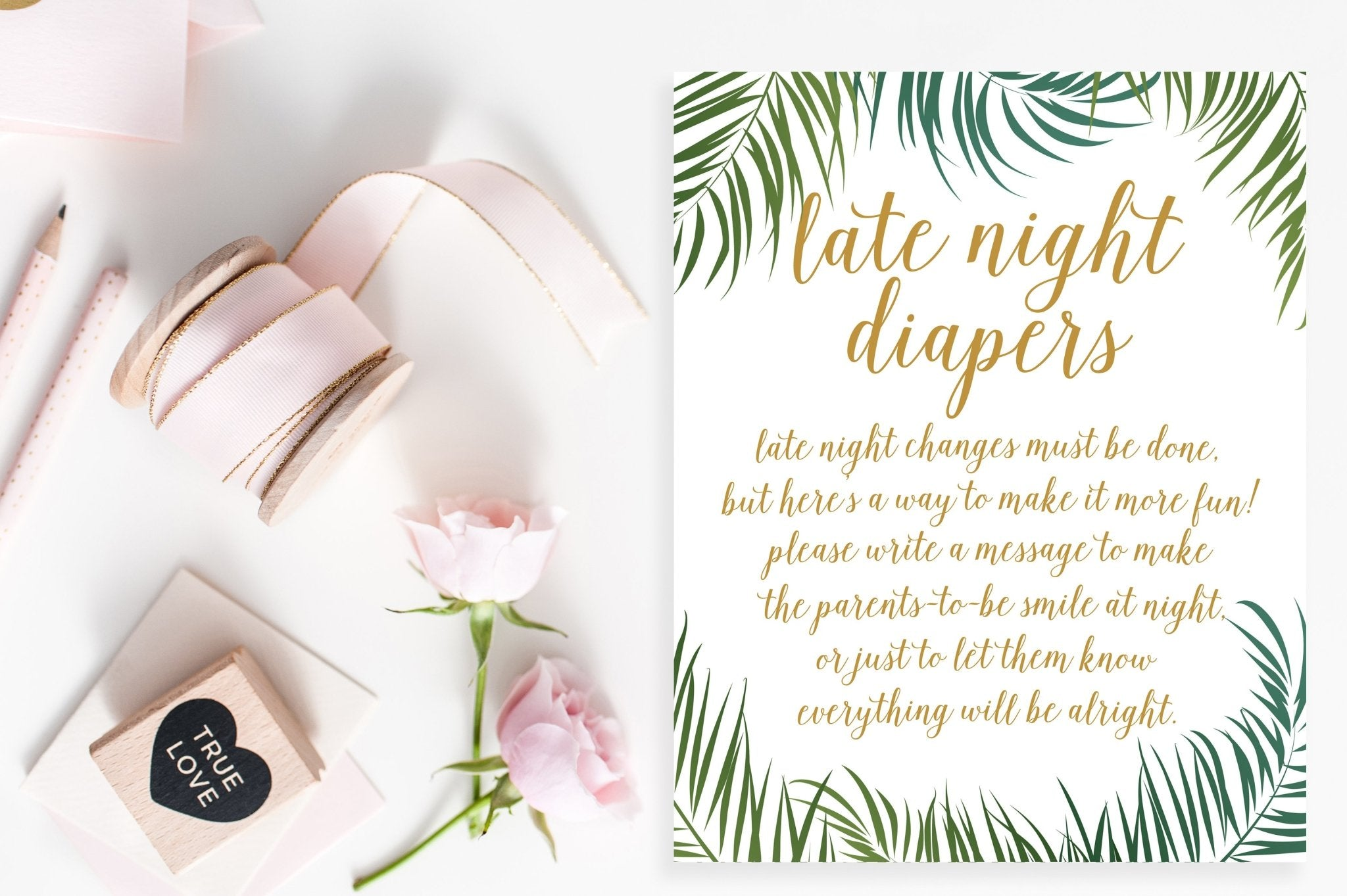 Late Night Diapers Sign Tropical Printable Pretty Collected